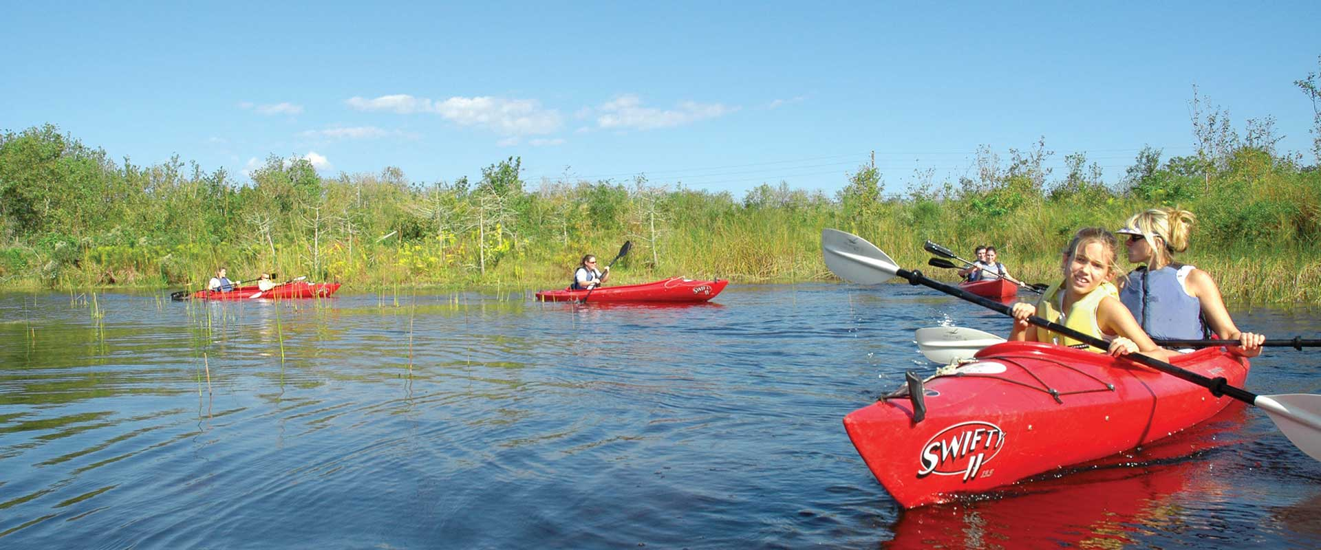 Hiking, kayaking, zip-lining, and many more low-impact green and earth-friendly activities are available on the Melbourne, FL coast.