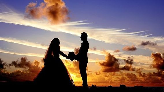 Sunset beach marriage